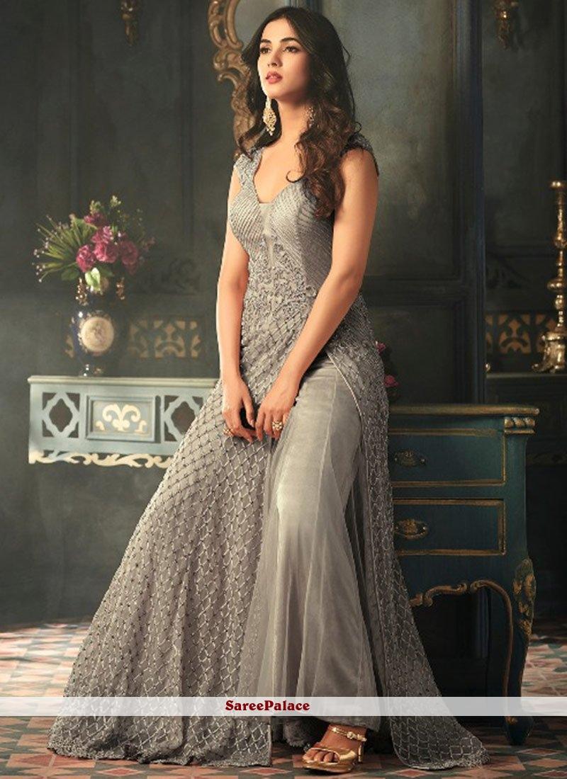 4c54a9330 Buy Sonal Chauhan Resham Work Floor Length Anarkali Suit Online