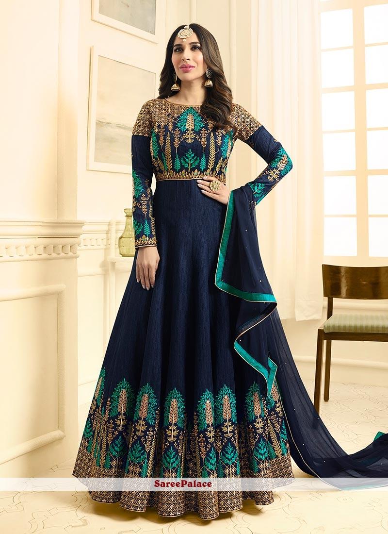 Sophie Chaudhary Art Silk Floor Length Anarkali Suit