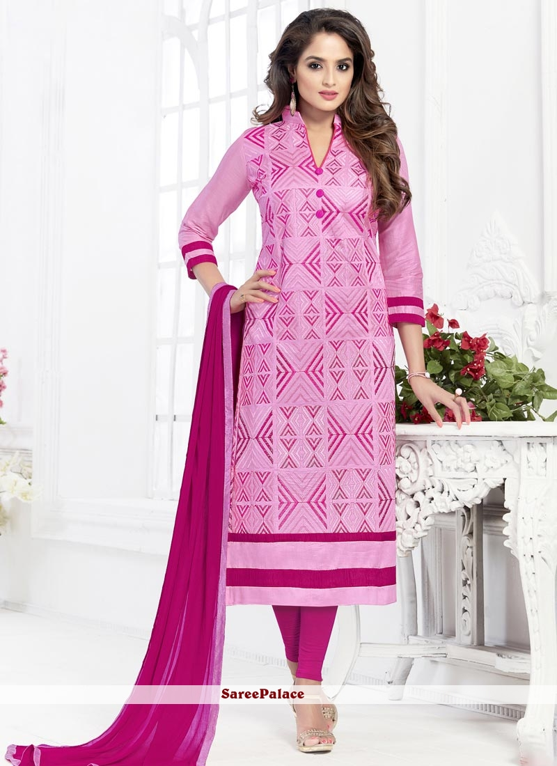 Sophisticated Pink Churidar Suit