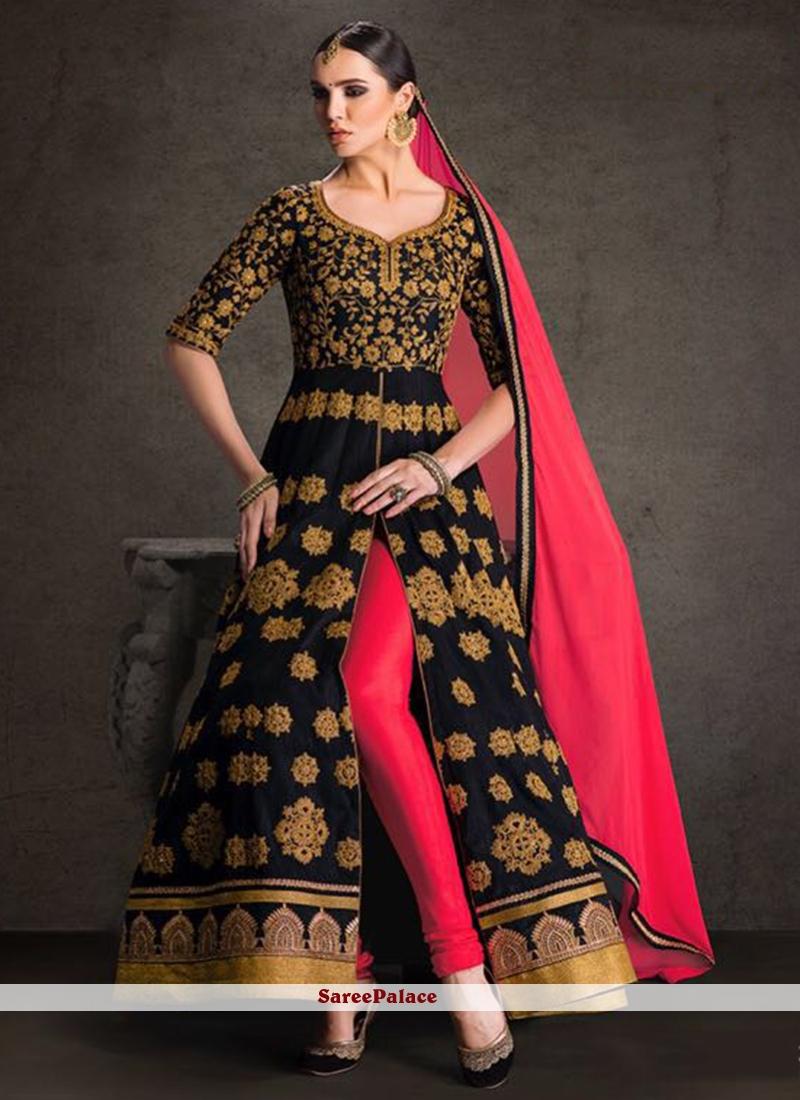 Sparkling Banglori Silk Designer Floor Length Suit