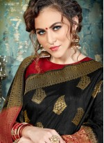 Sparkling Silk Abstract Print Work Traditional  Saree
