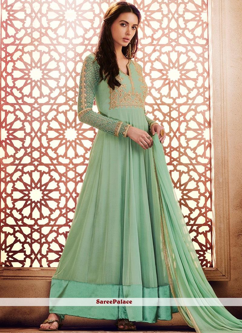Spectacular Georgette Anarkali Salwar Kameez