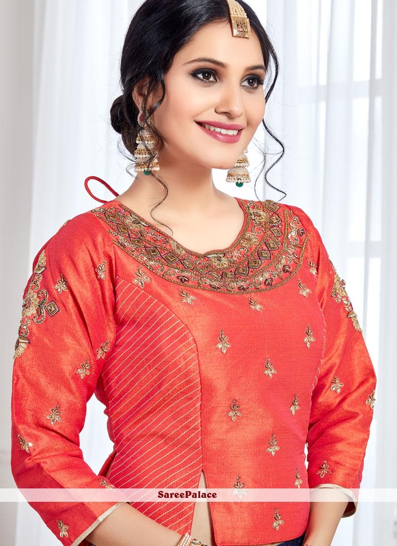 fec1e95942 Buy Spellbinding Art Silk Lace Work Readymade Lehenga Choli Online