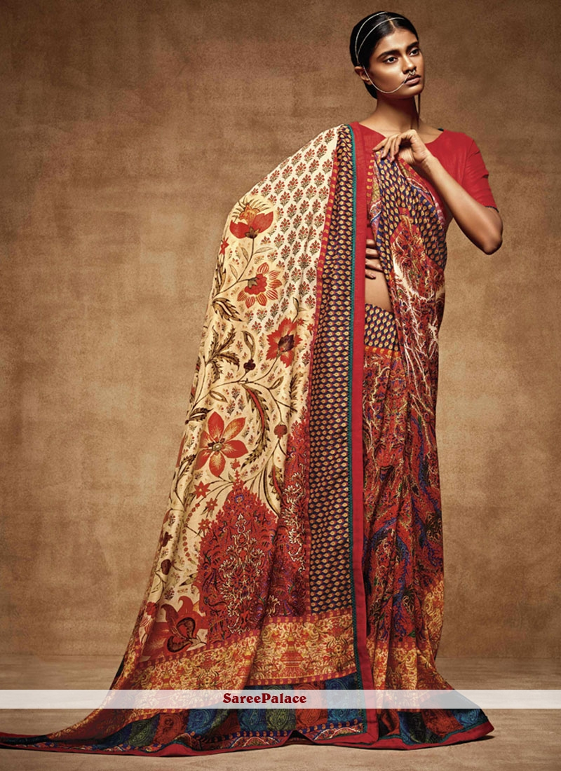 Spellbinding Art Silk Printed Saree