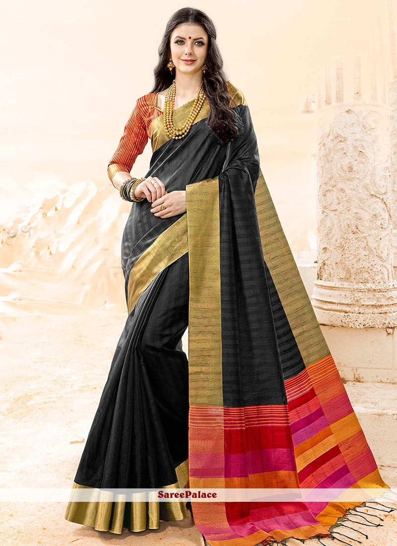 Staring Cotton Silk woven Work Traditional  Saree