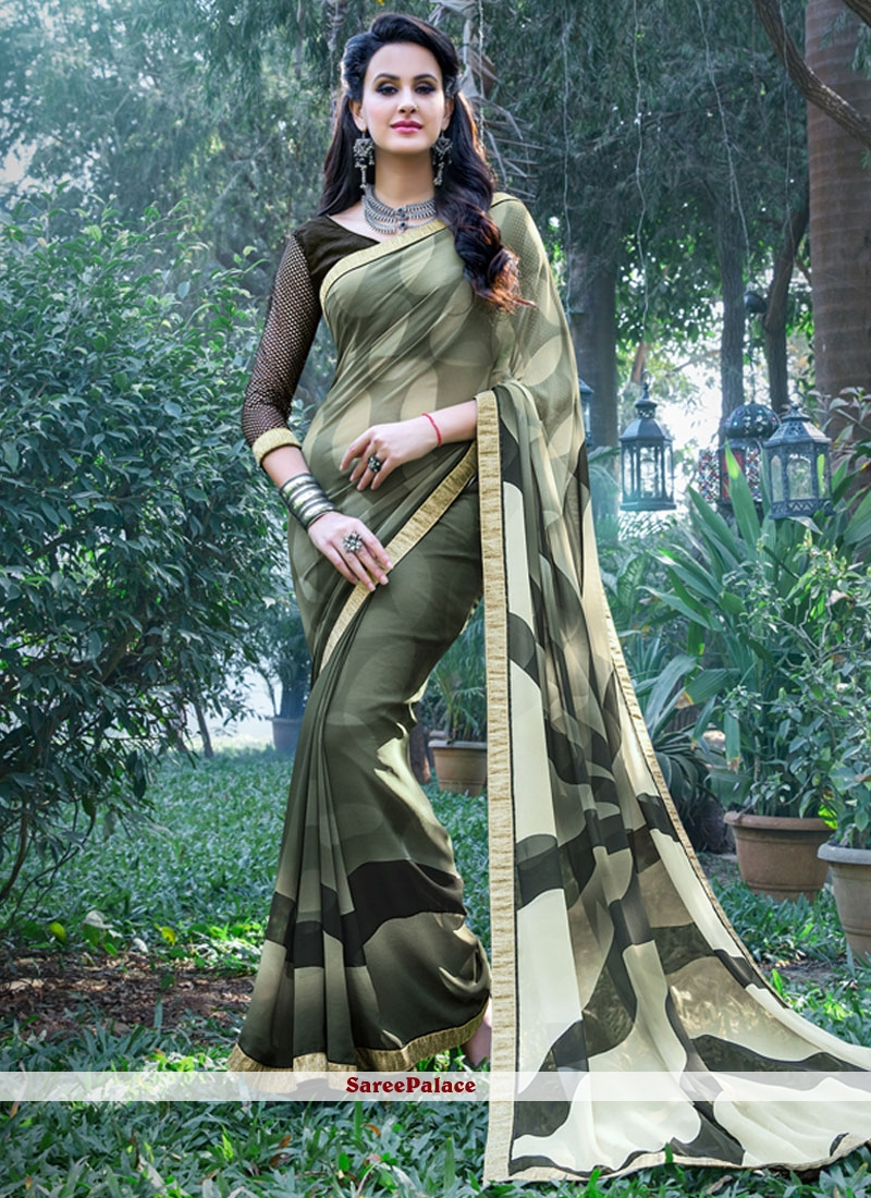 Sterling Multi Colour Printed Saree