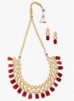 Stone Bridal Jewellery in Gold and Red