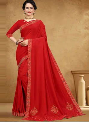 Red Stone Casual Classic Saree