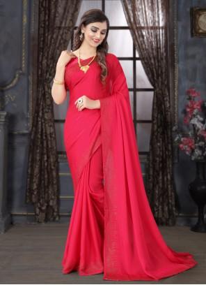 Stone Ceremonial Classic Pink Designer Saree