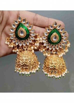 Stone Gold Ear Rings
