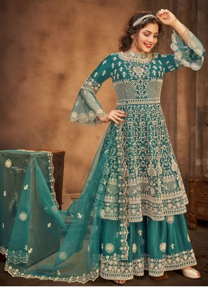 Stone Rama Net Designer Pakistani Salwar Suit