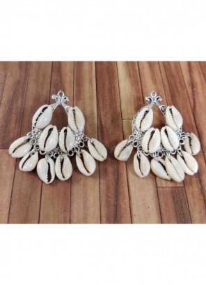 Stone Silver Ear Rings