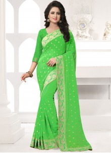 Stone Work Georgette Designer Saree