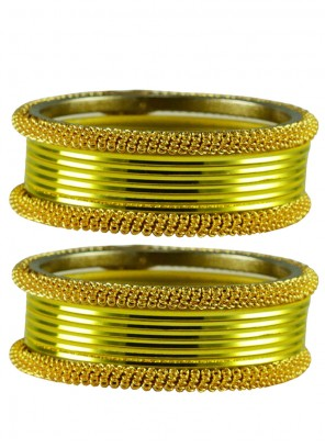 Stone Work Gold and Green Bangles