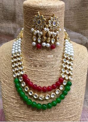 Stone Work Multi Colour Necklace Set