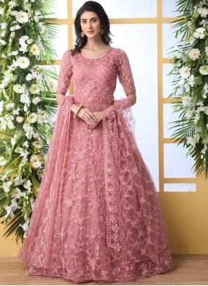 Stone Work Net Designer Gown
