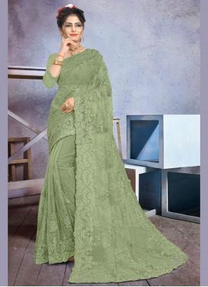 Stone Work Party Designer Saree