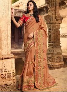 Stone Work Silk Traditional Designer Saree