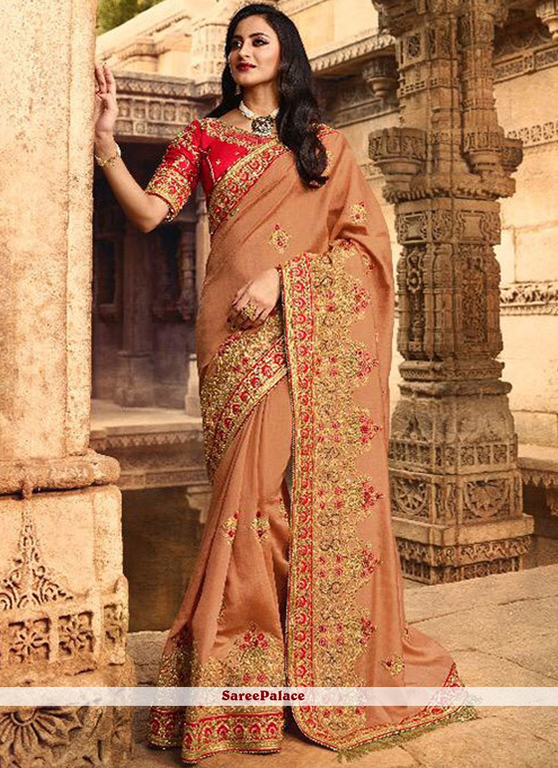 Stone Work Silk Traditional Designer Saree