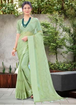 Green Stone Work Traditional Saree