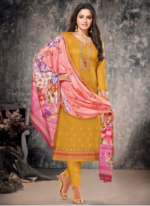 Mustard Straight Suit For Ceremonial