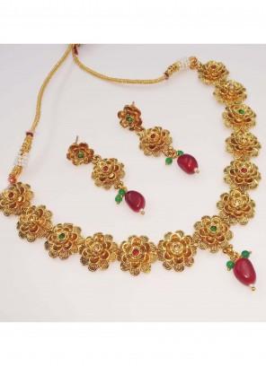Stretchable Gold Necklace Set