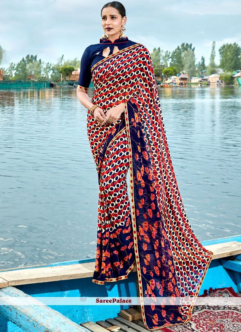 Stunning Print Work Casual Saree