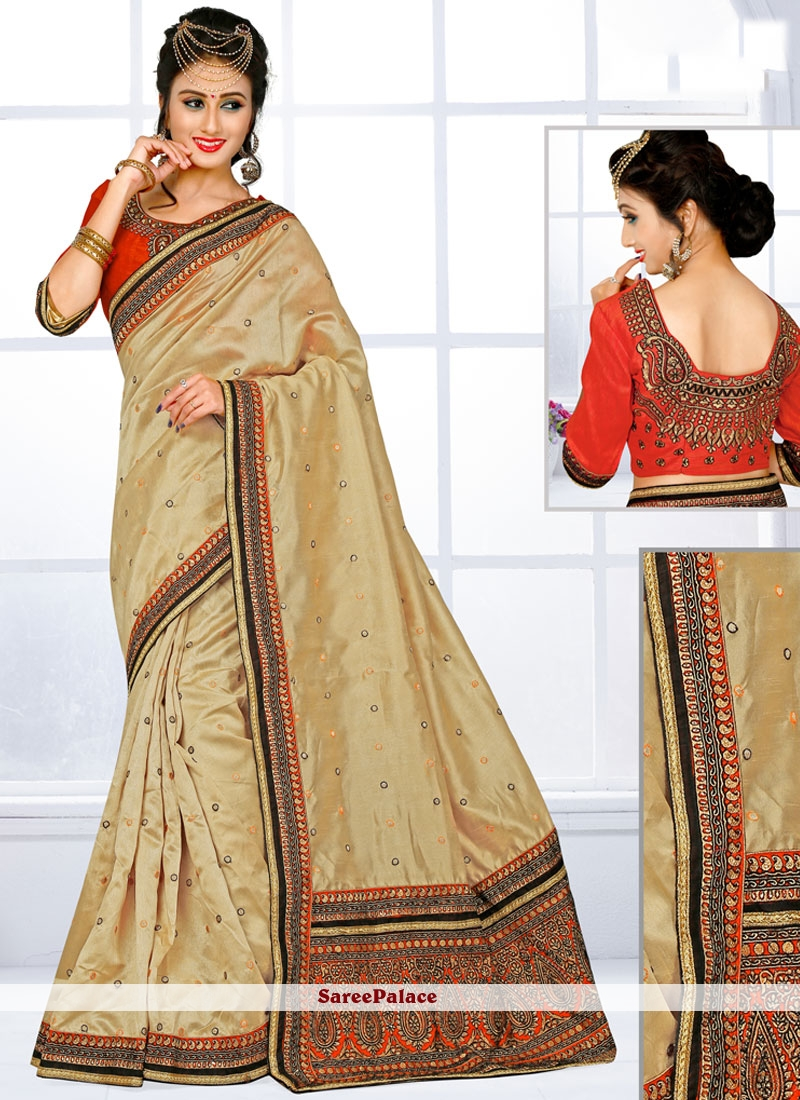 Stupendous Art Silk Embroidered Work Traditional Designer Saree