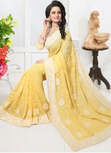 Stupendous Resham Work Designer Saree