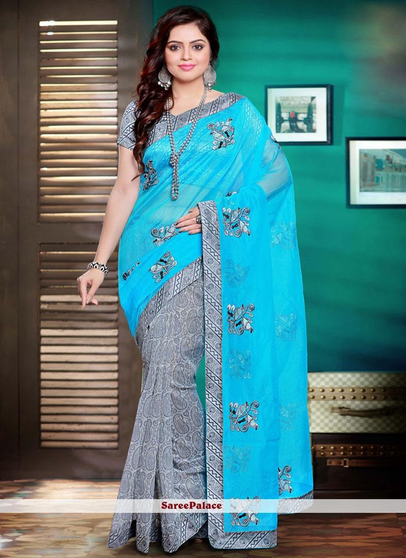 Stylish Net Classic Designer Saree