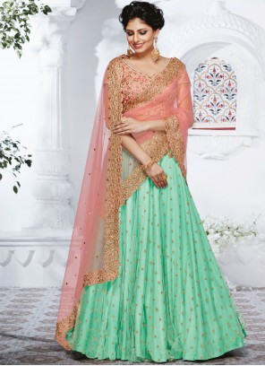 Stylish Sea Green Lehenga Choli