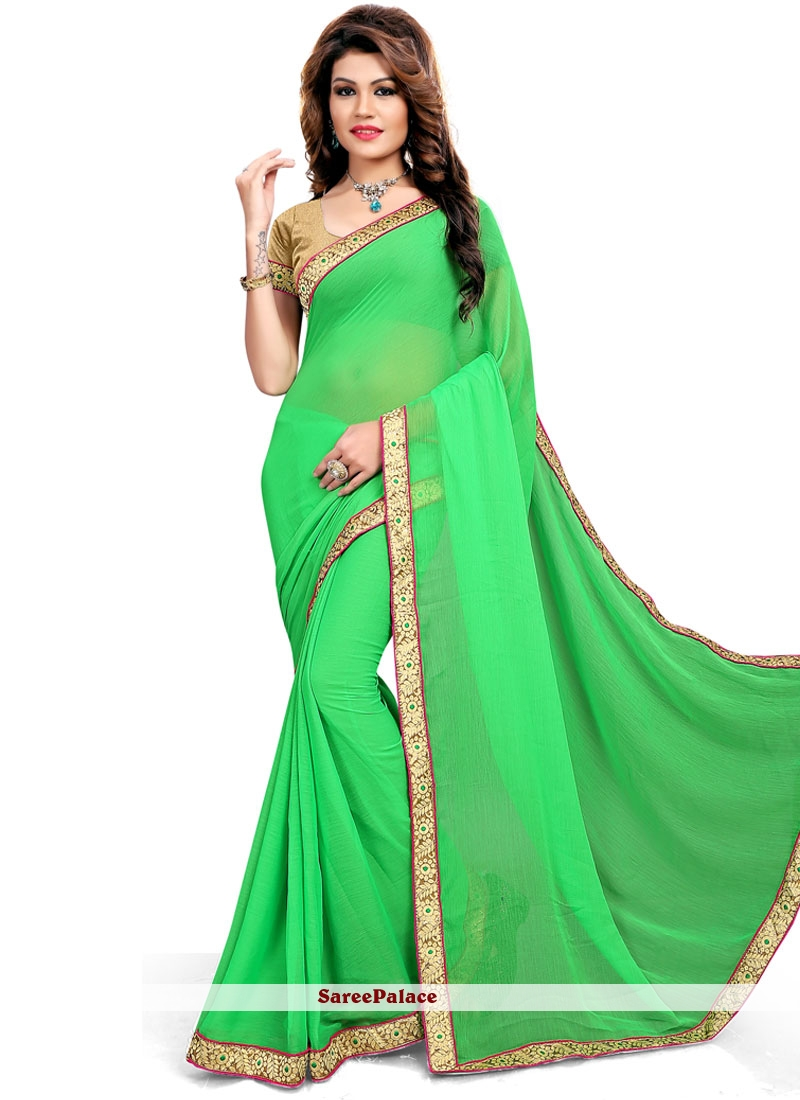 Suave Fancy Fabric Embroidered Work Classic Saree