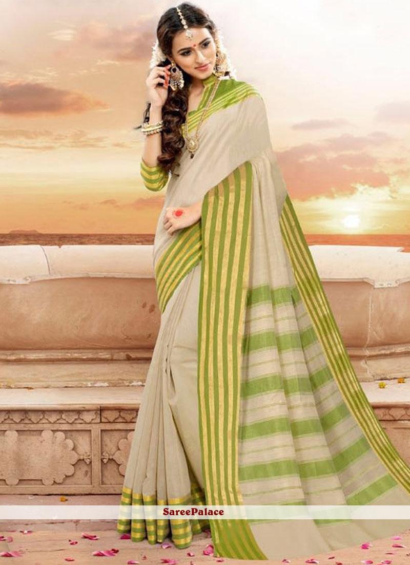 Subtle Khadi silk Grey Traditional  Saree