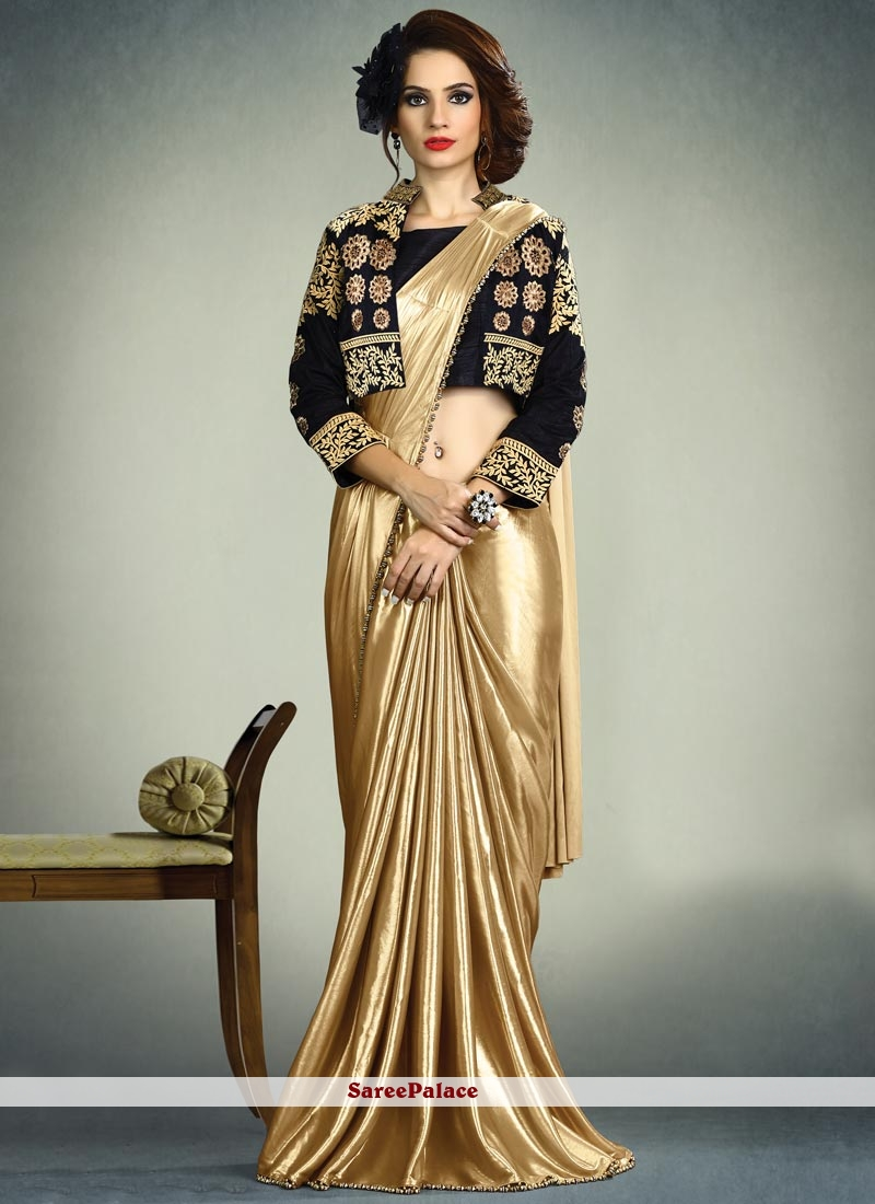 606332f5ae Buy Sumptuous Gold Thread Work Fancy Fabric Saree Online