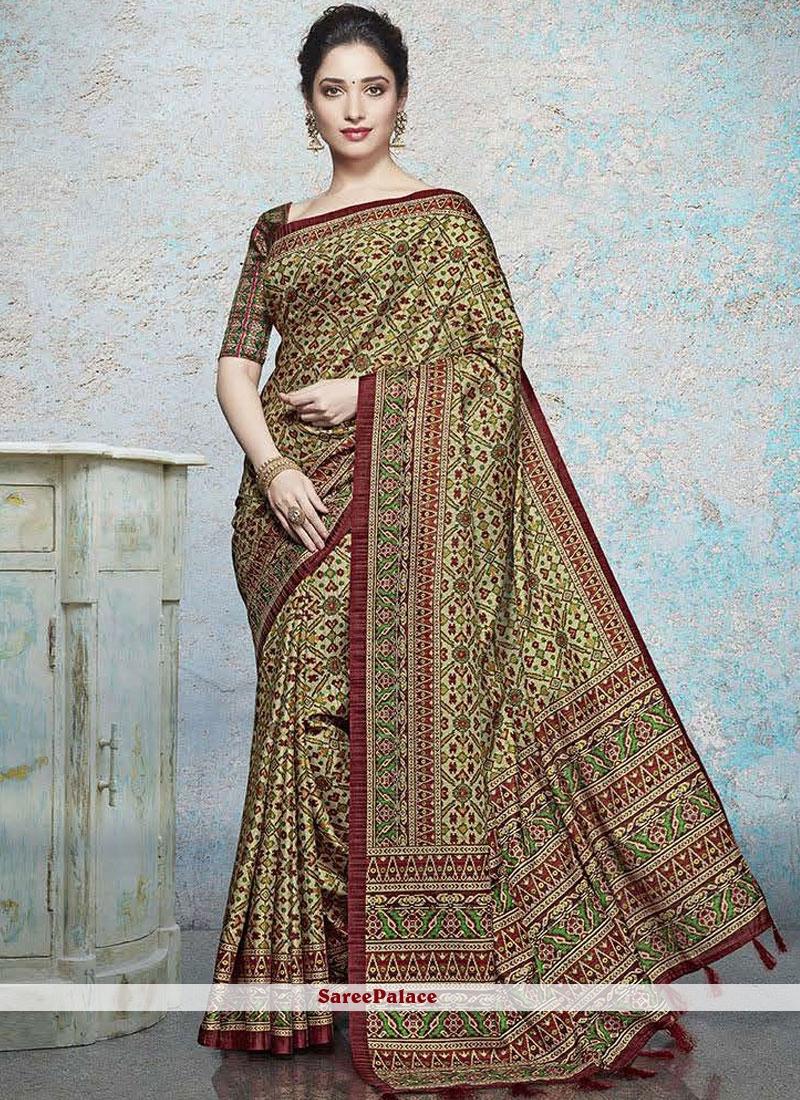 231d587f10 Buy Tamannaah Bhatia Abstract Print Multi Colour Printed Saree Online