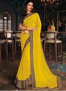 Tamannaah Bhatia Mustard Designer Saree
