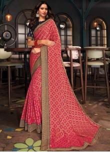 Tamannaah Bhatia Silk Pink Designer Saree