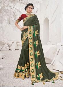 Teal Ceremonial Silk Classic Saree