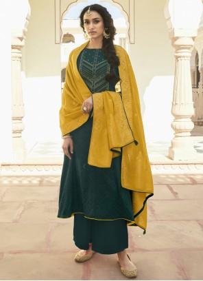 Teal Designer Pakistani Suit
