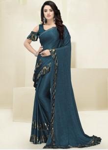 Teal Designer Saree