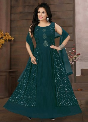 Teal Engagement Readymade Suit