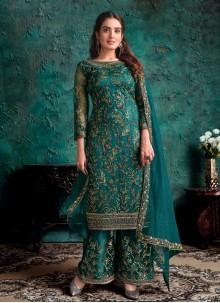 Teal Sangeet Designer Pakistani Suit
