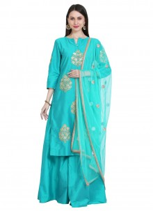 Thread Cotton Silk Readymade Salwar Suit
