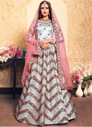 Thread Grey Designer Lehenga Choli