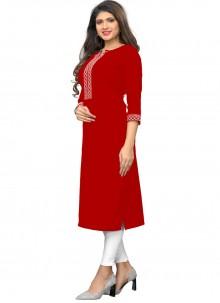 Red Thread Party Wear Kurti