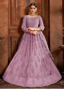 Thread Purple Designer Lehenga Choli