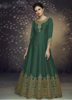 Green Thread Salwar Suit