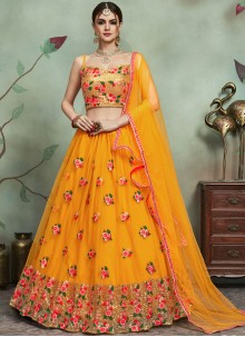 Thread Work Net Trendy Lehenga Choli