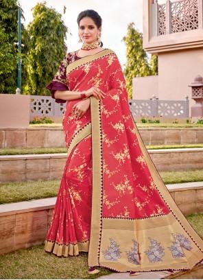 Thread Work Reception Designer Traditional Saree