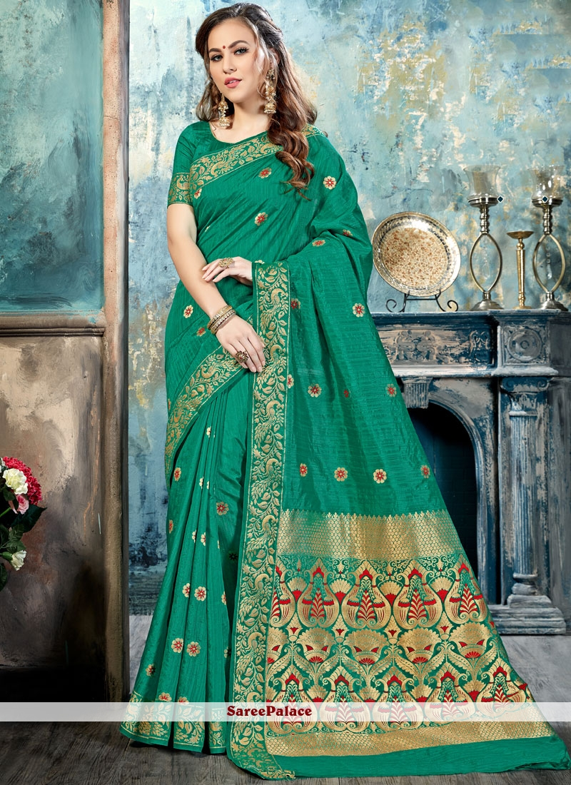 Thrilling Abstract Print Work Silk Traditional  Saree